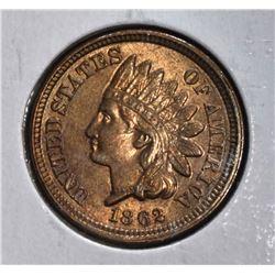 1862 INDIAN HEAD CENT  CH.BU