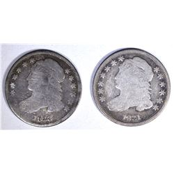 1831 VG & 1833 GOOD CAPPED BUST DIMES
