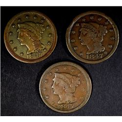 3-1847 LARGE CENTS: DIFFERENT VARIETIES AS FOLLOWS