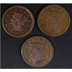 2 -1851 & 1852 LARGE CENTS - FINES