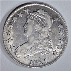 1821 CAPPED BUST HALF DOLLAR, AU