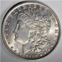 1886-O MORGAN SILVER DOLLAR  CH BU+