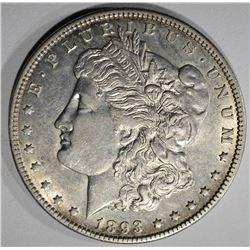 1893-O MORGAN SILVER DOLLAR  AU++