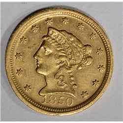1850-D $2 1/2 GOLD LIBERTY HEAD  AU/UNC