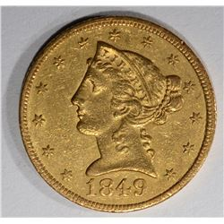 1849-C $5 GOLD LIBERTY HEAD  BU