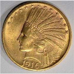 1916-S $10 GOLD INDIAN HEAD  CH BU