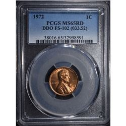 1972 LINCOLN CENT PCGS MS65RD