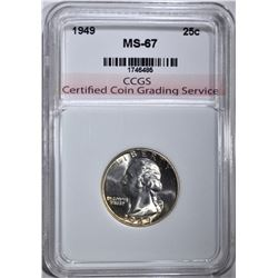 1949 WASHINGTON QUARTER CCGS SUPERB GEM