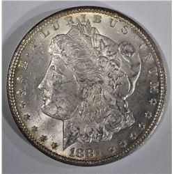 1881-CC MORGAN DOLLAR CH BU+
