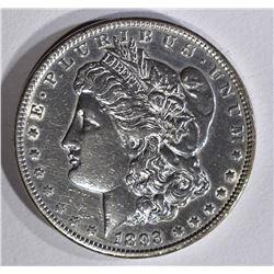 1893 MORGAN DOLLAR AU Cleaned