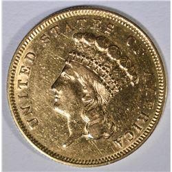 1856-S $3.00 GOLD  AU