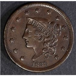1838 LARGE CENT XF Few Scratches