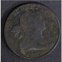 1801 DRAPED BUST LARGE CENT VG