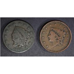 1836 VG, 1828 GOOD LARGE CENTS