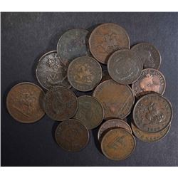 17 -CANADIAN BANK TOKENS 1800's