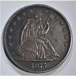 1875 SEATED HALF DOLLAR AU/BU