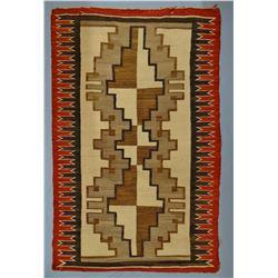 "Navajo weaving, 38"" x 60"""