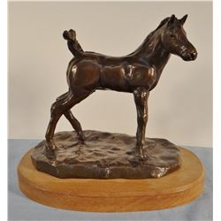"Cuts The Rope, Clarence, bronze, (1935-2000) The Colt, 2/50, 7"" x 7"""