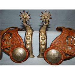 Bacho's silver mtd spurs, large concho straps