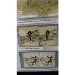 3 Stanley J. Morrow, Yankton, D. T.,  stereographs of Yellowstone Kelly, rare, framed