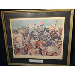 "McBarron, H. Charles print, Custer's Last Fight, 21"" X 24"", framed"
