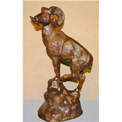 "Lafountain, Alex bronze, Big Horn Ram, 12"" h x 7"" w"