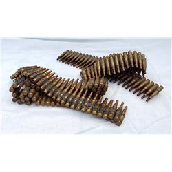 2 U. S. Army training ammo belt, 100 rds of blanks in each