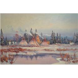 Bailey, William, Glacier Park, 1983, Oil on canvas, 20x30