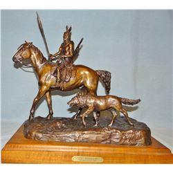 """Scriver, Bob bronze, The Warrior, #47/50, 13"""" x 15"""" x 7.5"""""""