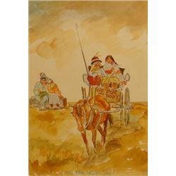 "Standing, William, (1904-1951), watercolor, 8"" x 10"", No Ride, No Body,"