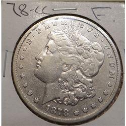 1878-CC Morgan Silver Dollar, Fine