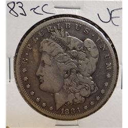 1883-CC Morgan Silver Dollar, Very Fine