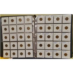 Lincoln Penny Set 1909-1958, 137 total coins, average circulated condition, grades V.G. – A.U.