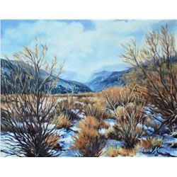 """Kelton, Steve, Winter Solitude, Oil on canvas, 11"""" x 14"""", framed, signed lower right"""