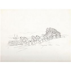 """Reed Marjorie (1915-1996), A Congested Highway, Ink, 8 5/8"""" x 11 5/8"""" , signed lower right"""