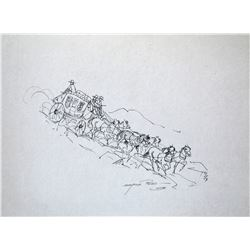 """Reed, Marjorie (1915-1996), Down the Vallecito Grade, Ink, 10 1/8"""" x 13 ¼"""", signed lower right,"""