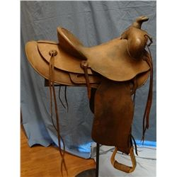 """Gale Bachman rough-out saddle, 15"""""""