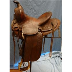 "Gale Bachman saddle, 12"""