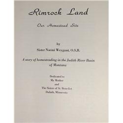 Sister Noemi Weygant, Rimrock Land book, History of Judith Basin,