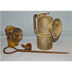 Large miner's lamp and candle holder