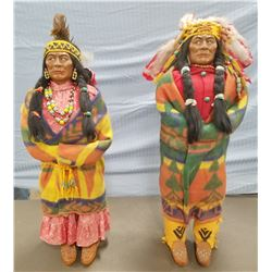 (2) Trading Post Indian figures, c. 1950's