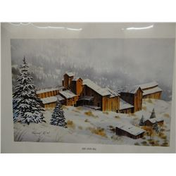 """Locatti, Tom, signed and numbered print, Ruby Gulch Mill, 14"""" x 22"""", #214/400, unframed"""