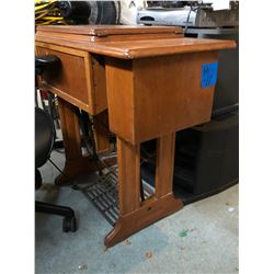 Singer Treadle Sewing Machine in Wood Cabinet