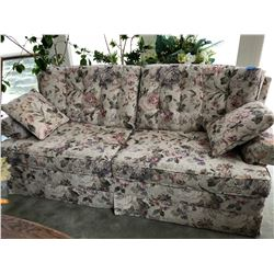 Floral Double Seated Sofabed & 2 Cushions