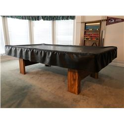 Bristol by Brunswick Premium Slate Pool Table w/Cover Plus Wall Rack w/8 Cues & Balls