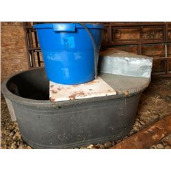 Water Trough & Heated Pail