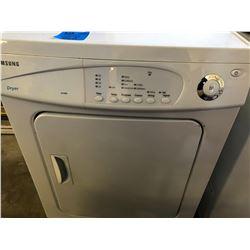 Samsung Apt Size Dryer & Wood Bed Frame