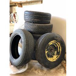 9 Misc. Assorted Tires (includes Cooper 205/55R16, Set of 3 Bridgestone 225/60R18
