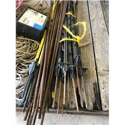 Large Lot of Elec Fencing Material including Hallman Elec Fence Controller/Metal & Fiber Glass Fenci