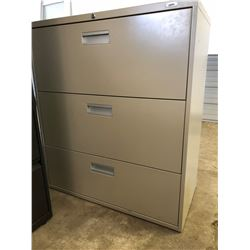 3 Drawer Lateral Beige File Cabinet